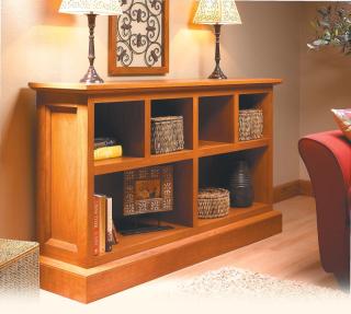 Low cherry bookcase - Photo Courtesy of Woodsmith Magazine