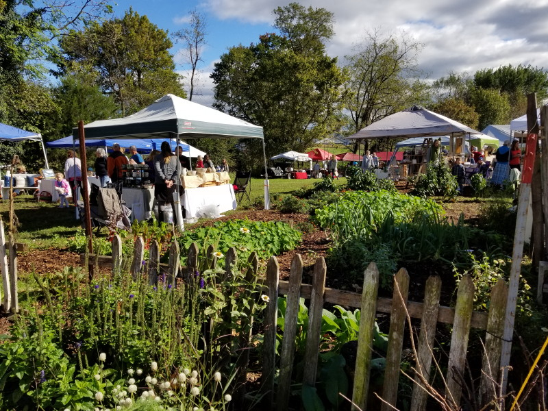Spring Creek garden and vendors