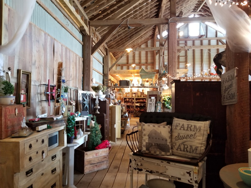 a vendor's booth at Barn at Creekside