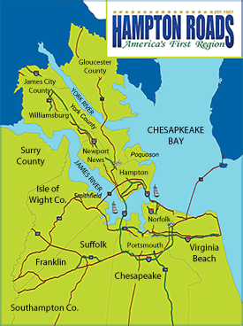 Map of Gloucester VA