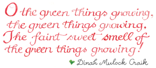 Garden quote lettered by Susan Branch.com