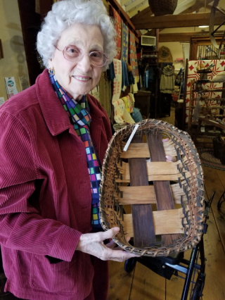 Granny holding a basket she liked