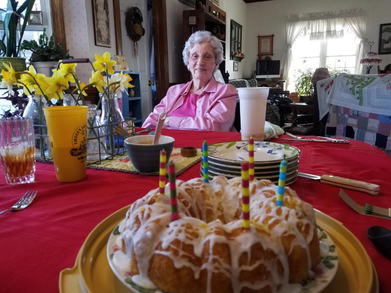 Granny at Bet's birthday celebration