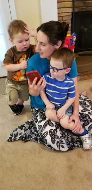 Hannah and boys