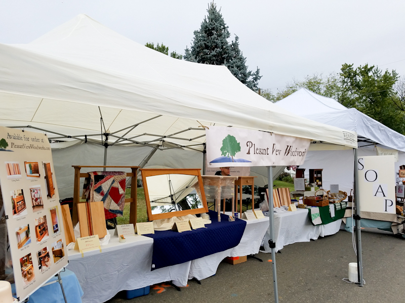 Pleasant View Woodworks' booth
