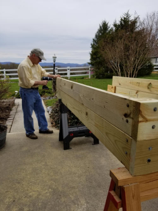Raised beds being completed