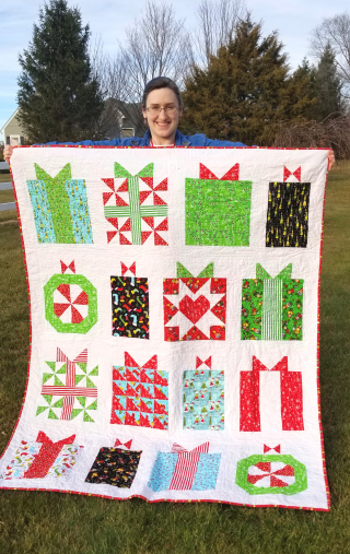 Sarah with Gift Boxes quilt