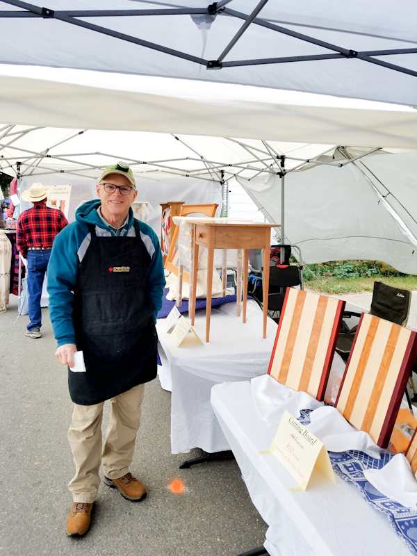 Pleasant View Woodworks booth Dayton Days