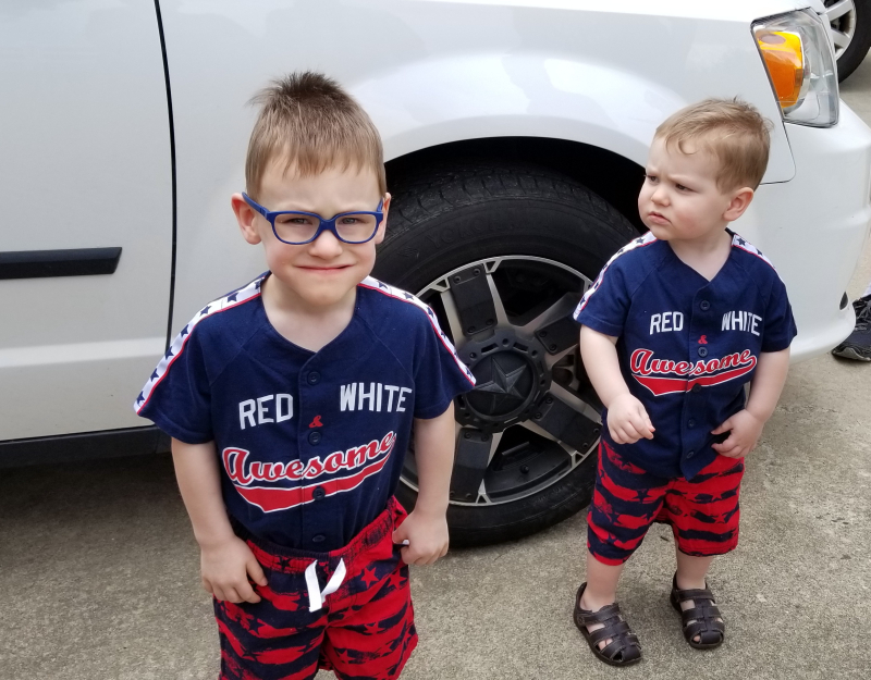 Grandsons arriving on the 4th!