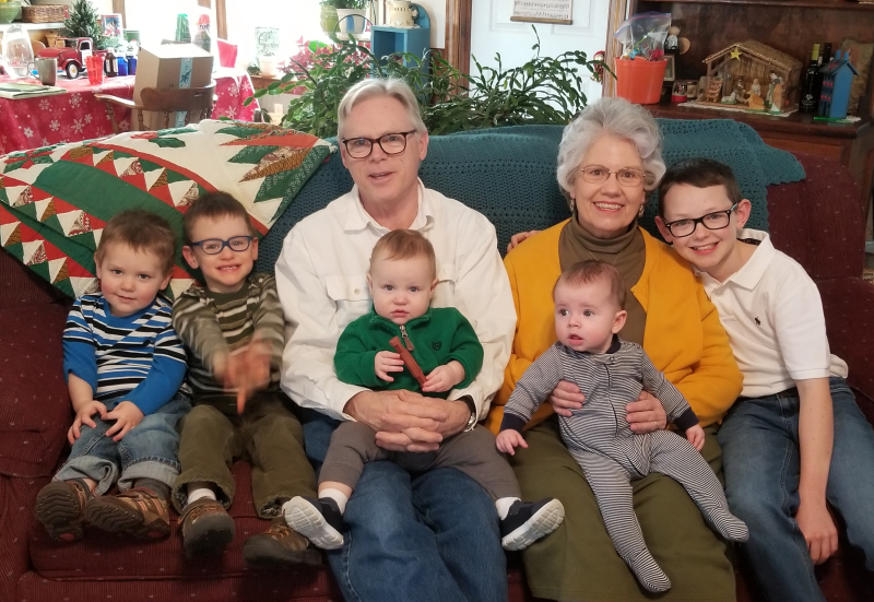 Tom Deb and 5 grandsons