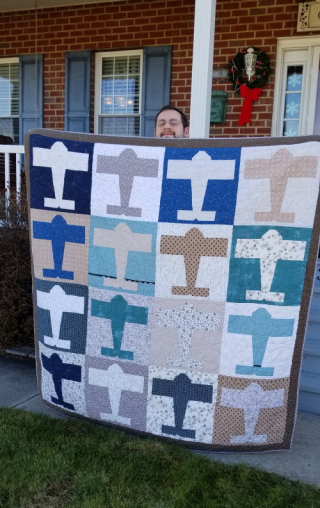 Jonathan's airplane quilt