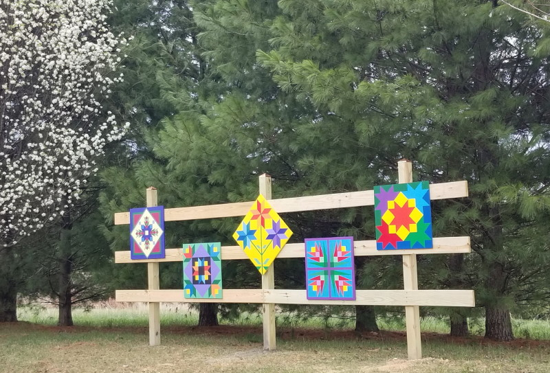 Barn quilts in our neighborhood!