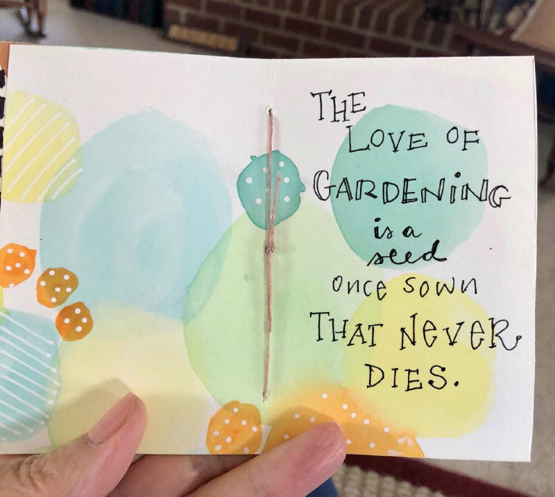 artsy garden book made by my sister Bet