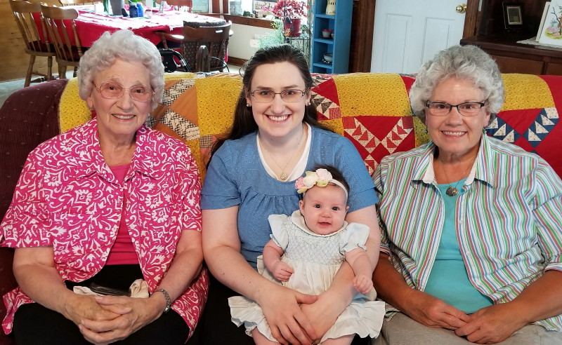 Granny, Sarah, Deb with our new granddaughter