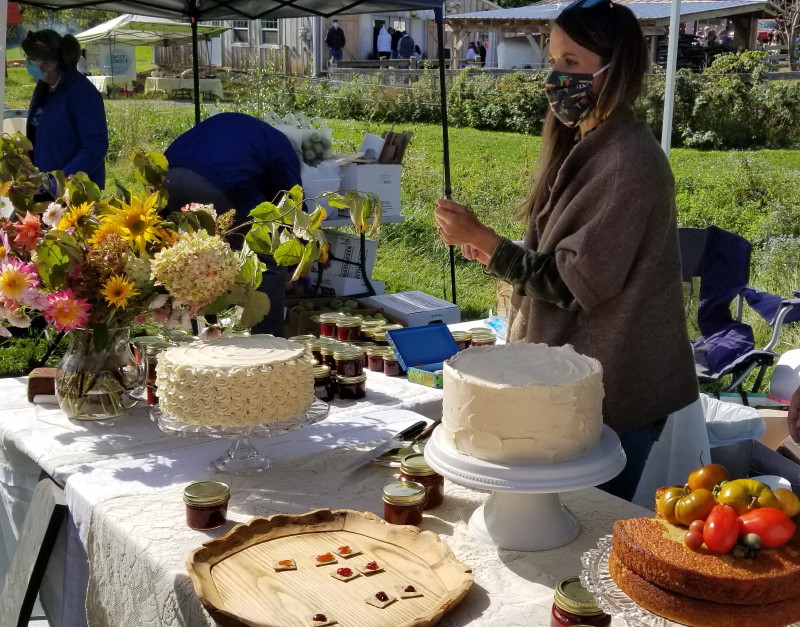 cake vendor at Season's Yield Farm