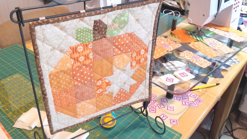 Pumpkin Block by Pattern Basket, made by Chris