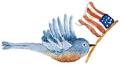Bird with flag