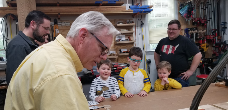 Future woodworkers!