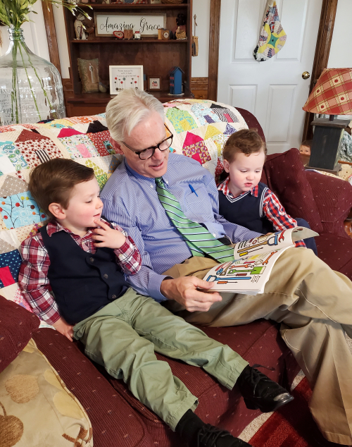 Grampa and the boys