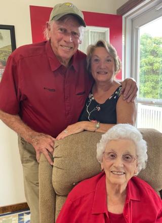 Bud, Carolyn, and Granny