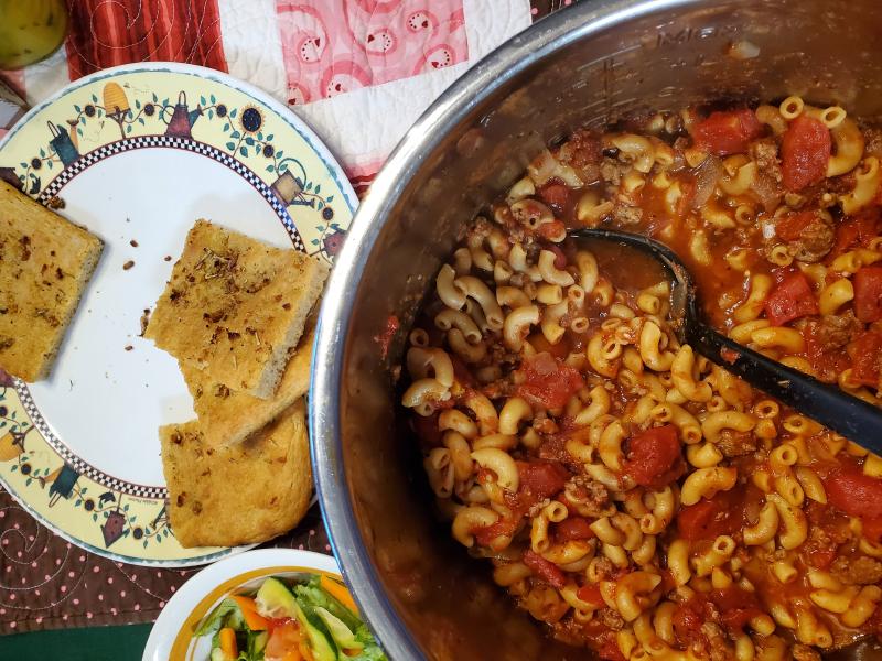 Italian Goulash, Rosemary Foccacia