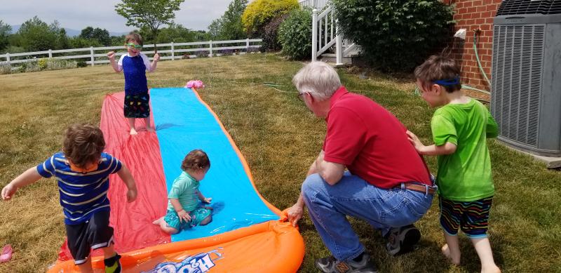 Grampa's Slip & Slide for the kiddies