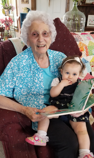 Great Granny and little ladybug!