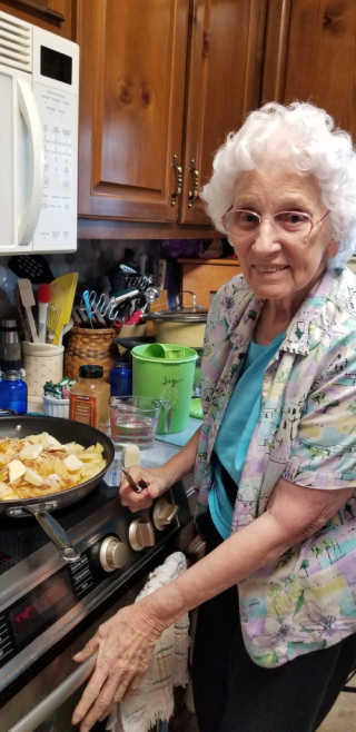 Granny Frying Apples ~ 8/27/21