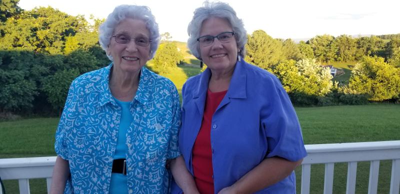Granny and Deb aka Great Granny and Granny Deb